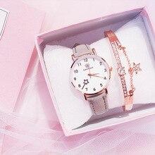 цена на Ladies fashion casual elegant leather belt analog round watch quartz watch female clock reloj mujer