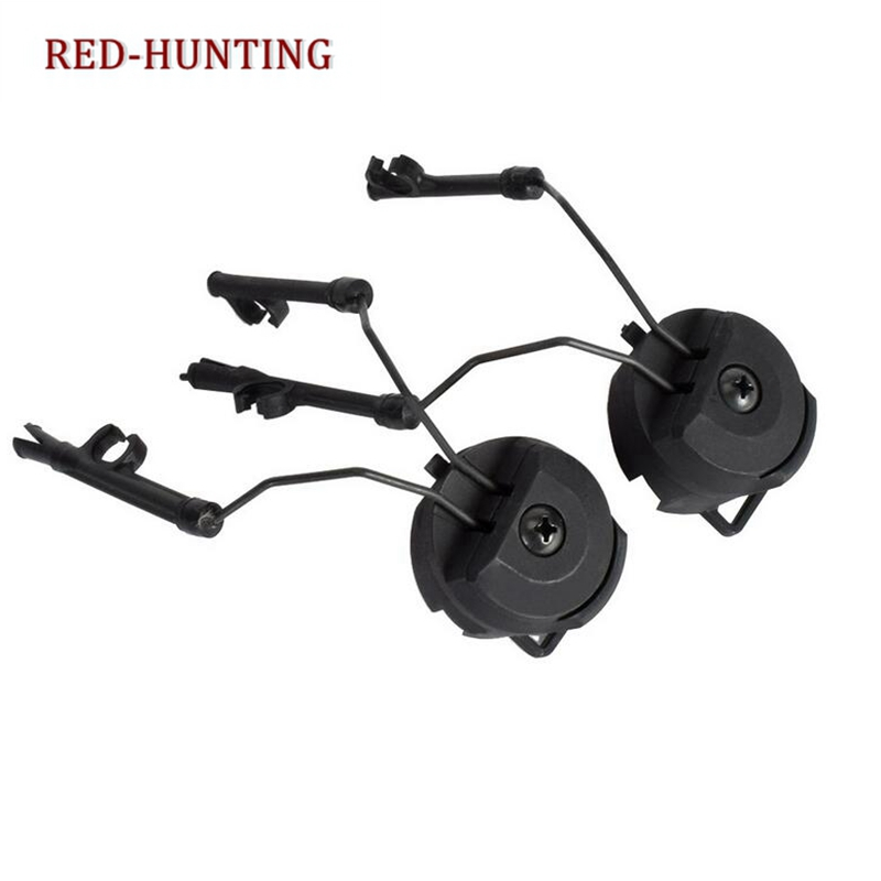 Airsoft Paintball Headset Holder Army Fast Helmet Rail Adapter Rail Mount Kit Tactical Helmet Adapter Set Accessories
