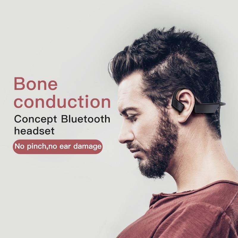 Ankeface TWS Wireless Bluetooth Earphone Bone Conduction Sports Waterproof Headset for XIAOMI&HUAWEI&IPHONE&SAMSUNG Smart Phone