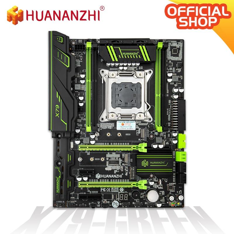 HUANANZHI X79 GREEN Motherboard LGA2011 ATX USB3.0 SATA3 PCI-E NVME M.2 SSD Support REG ECC Memory And Xeon E5 Processor V1/V2