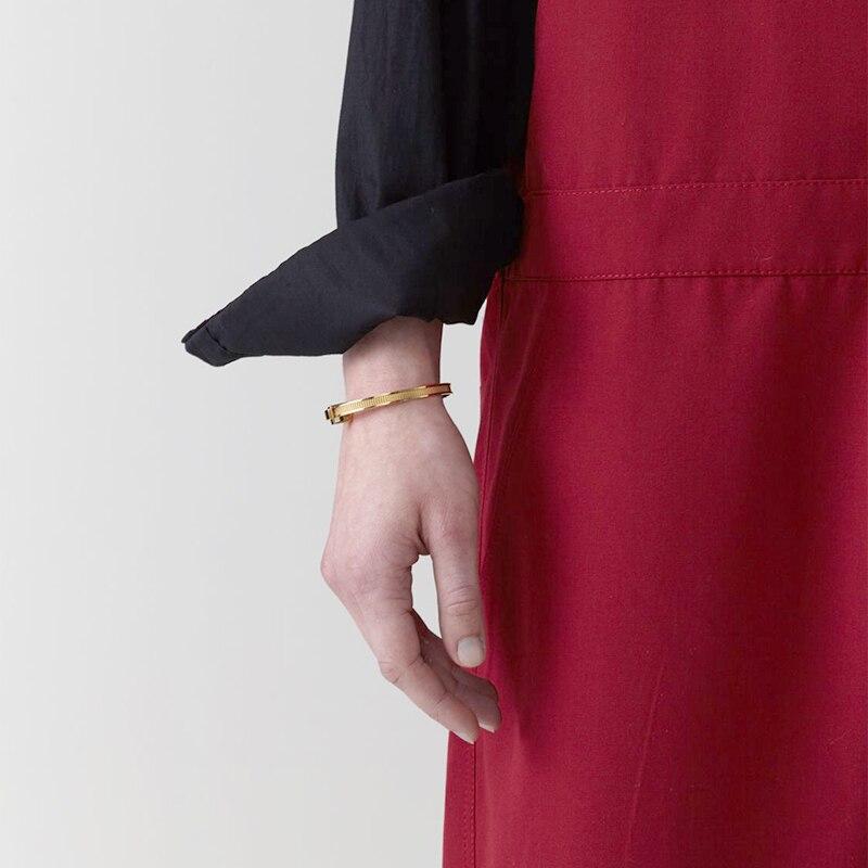 AMBUSH хип хоп простой личности 925 Серебряный легко затягивающийся браслет регулируемые персональные подарки Панк ювелирные изделия для женщин и мужчин - 2