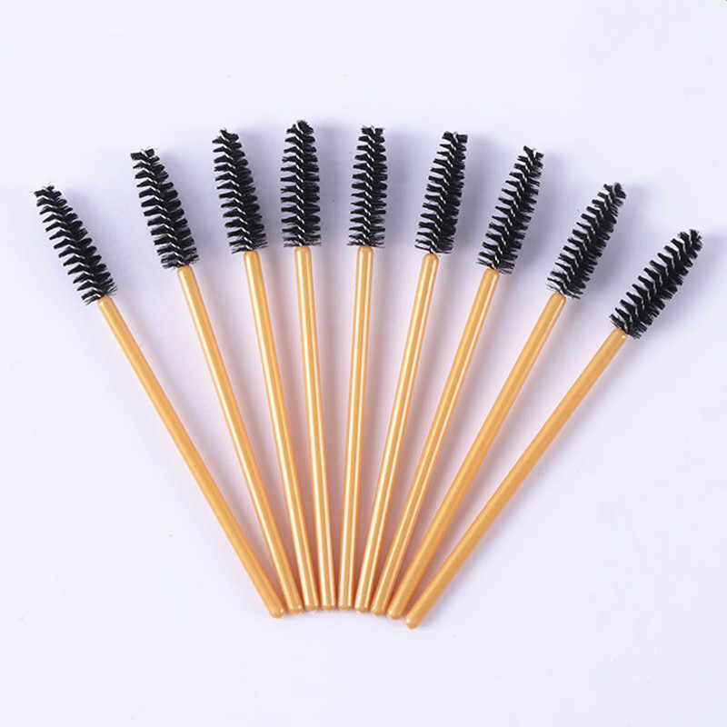50Pcs Disposable Eyelash Extension Brushes Mini Natural Wands Applicator Multicolors Eye Lashes Cosmetic Brush Makeup Tools