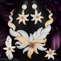 missvikki Italian 4PCS Necklace Earrings Bracelet Ring for Noble Pearl Luxury Women Bridal Wedding Engagement Jewelry Sets 2020
