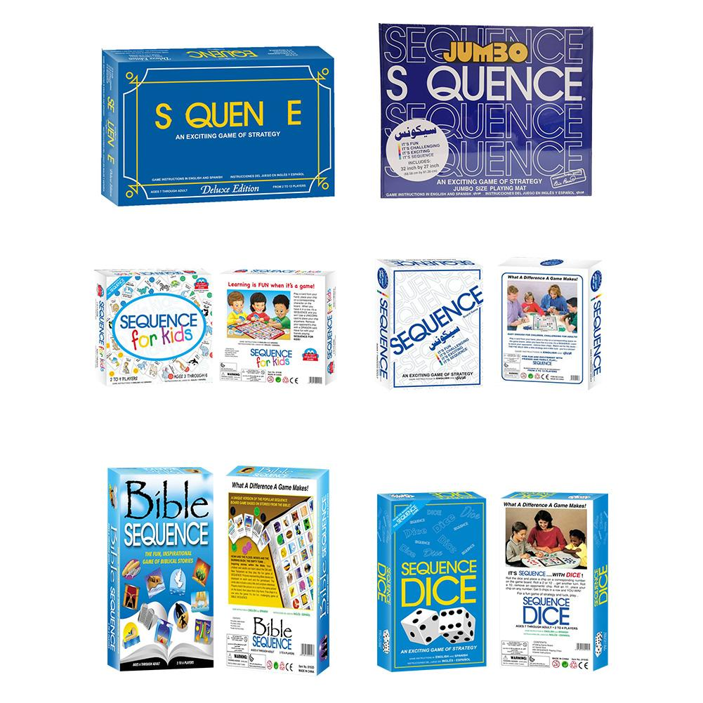 Sequence Game Card Set Exciting Durable Poker Series Cards Group Participation Gaming Toys Baby Learning Cards Educational Toy