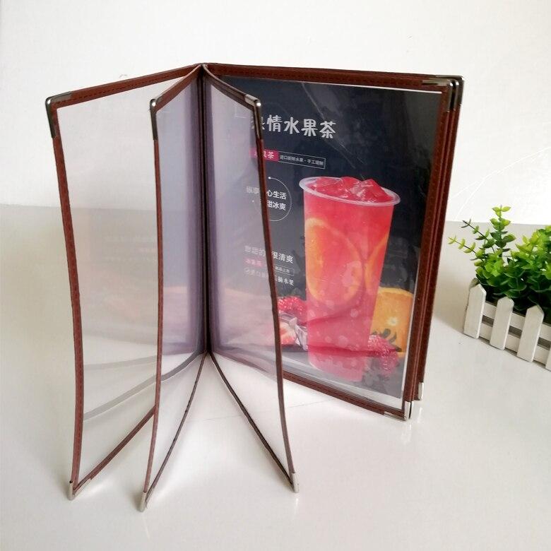 Transparent Recipe Book 6 Sheets 12 Page Pvc Menu Book Shell Loose-leaf Recipe Point Insert Menu Folder