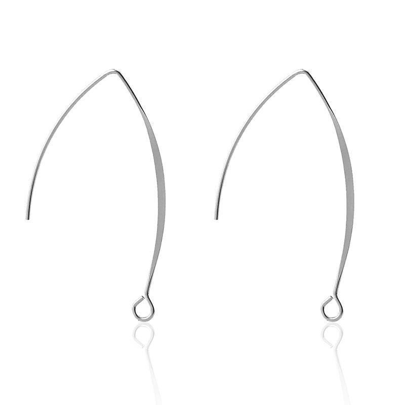 Aiovlo 50pcs/lot Stainless Steel Great France Earring Hooks Kidney Ear Wires Findings DIY Jewelry Accessories Wholesale