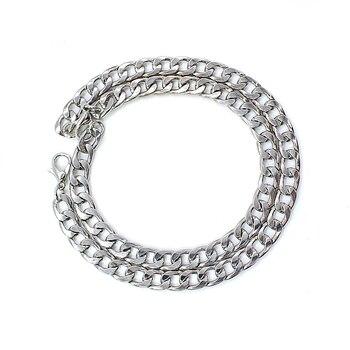 NEW Men's hip-hop stainless steel punk rock bracelet Cuban brake chain men's bracelet women's jewelry Simple Style hand chain 6 4