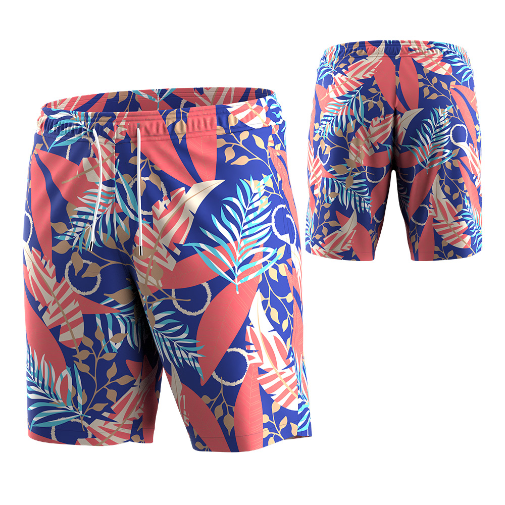 2021 Latest Breathable Comfy Summer Beach Short Athletic Sweat Elastic Waist Drawstring Pocketed Sport Swimming Trunks