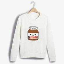 цена на Nutella  Causal  Hoodiesize XS-4XL 2019 Winter Long Sleeve Hoodies for Women Funny Tee Hoodies