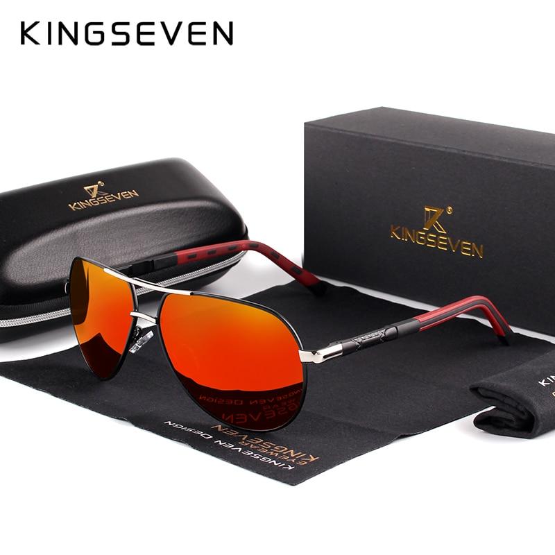 KINGSEVEN Marke Männer der Aluminium Magnesium Sonnenbrille Polarisierte UV400 Sonnenbrille oculos Männlichen Brillen Sonnenbrillen Für Männer N725