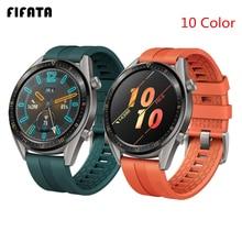 FIFATA 22/20mm 스마트 시계 밴드 화웨이 시계 GT/GT2 스트랩 실리콘 밴드 스포츠 팔찌 명예 시계 매직 손목 스트랩