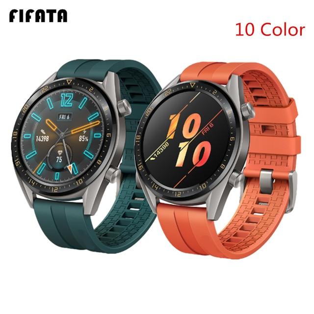 FIFATA 22/20mm Smart Uhr Band Für Huawei Uhr GT/GT2 Strap Silikon Bands Sport Armband Für ehre Uhr Magie Handgelenk Riemen