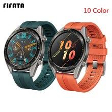Fifata 22/20 ミリメートルスマート時計バンド huawei 社腕時計 gt/GT2 ストラップシリコーンバンドのための名誉腕時計手首ストラップ