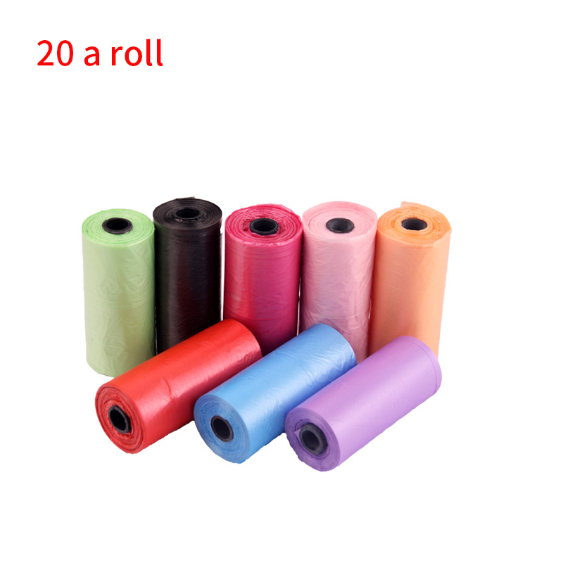 Roll/ 20pcs 15pcs Pet Dog Garbage Clean-Up Bag PE Puppy Cat Poop Cleaning Bag For Pet Outdoor Waste Poop Pick Up Bags