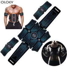 Abdominal Muscle Stimulator Trainer Abs EMS Fitness Equipment Training Gear Muscles Electrostimulator Toner USB Charging Gym