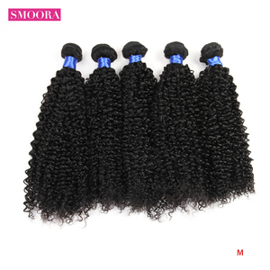 Mongolian Kinky Curly Hair Products 26 28 30 inch Non-Remy Wholesale Afro Kinky Curly Human Hair Bundles Long Length Eexntension