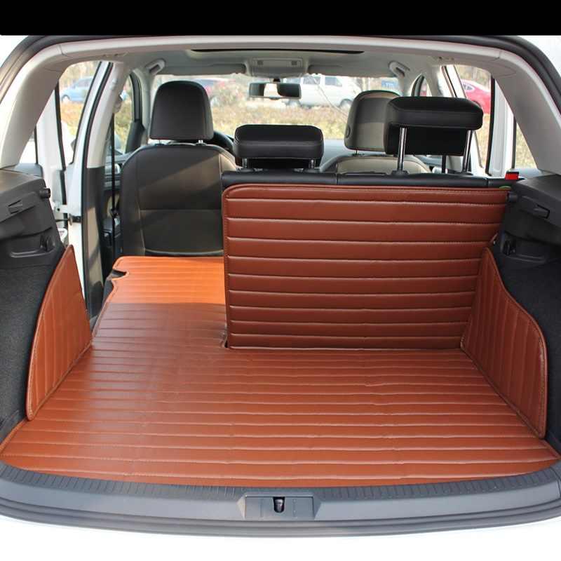 tapis de coffre de voiture pliable 3d tapis de coffre de voiture entierement entoure tapis de deuxieme rangee et de cotes pour volkswagen golf 6