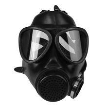 מלא Facemask הנשמה Airsoft גז מסכת משקפי CS זיעה אבק מסיכת פן כימיה צבע
