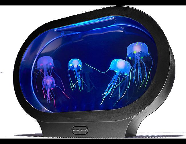 Boaz Jelly fish Lamp Tank Mood Light Aquarium LED Colorful Aquarium Ocean Wave Projector Jellyfish night