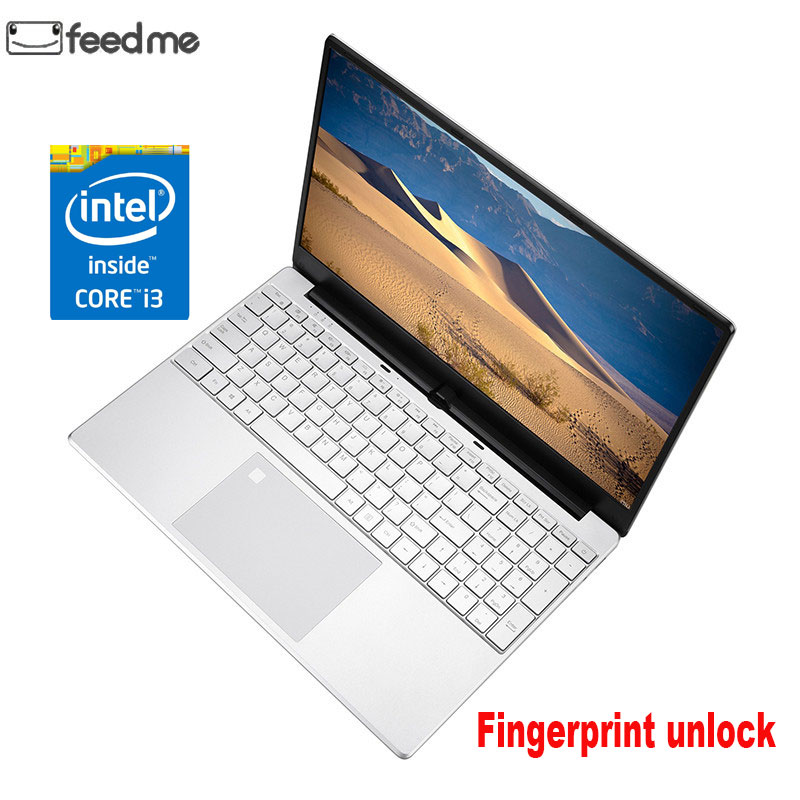 15.6 Inch Intel Core I3 5005U 8GB RAM Laptop 256GB/512GB SSD 1920*1080 IPS HD Screen Gaming Notebook With Fingerprint Unlock