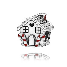 2019 Christmas New 100% 925 Sterling Silver Beads Gingerbread House Charm fit Original Pandora Bracelets Women DIY Jewelry(China)