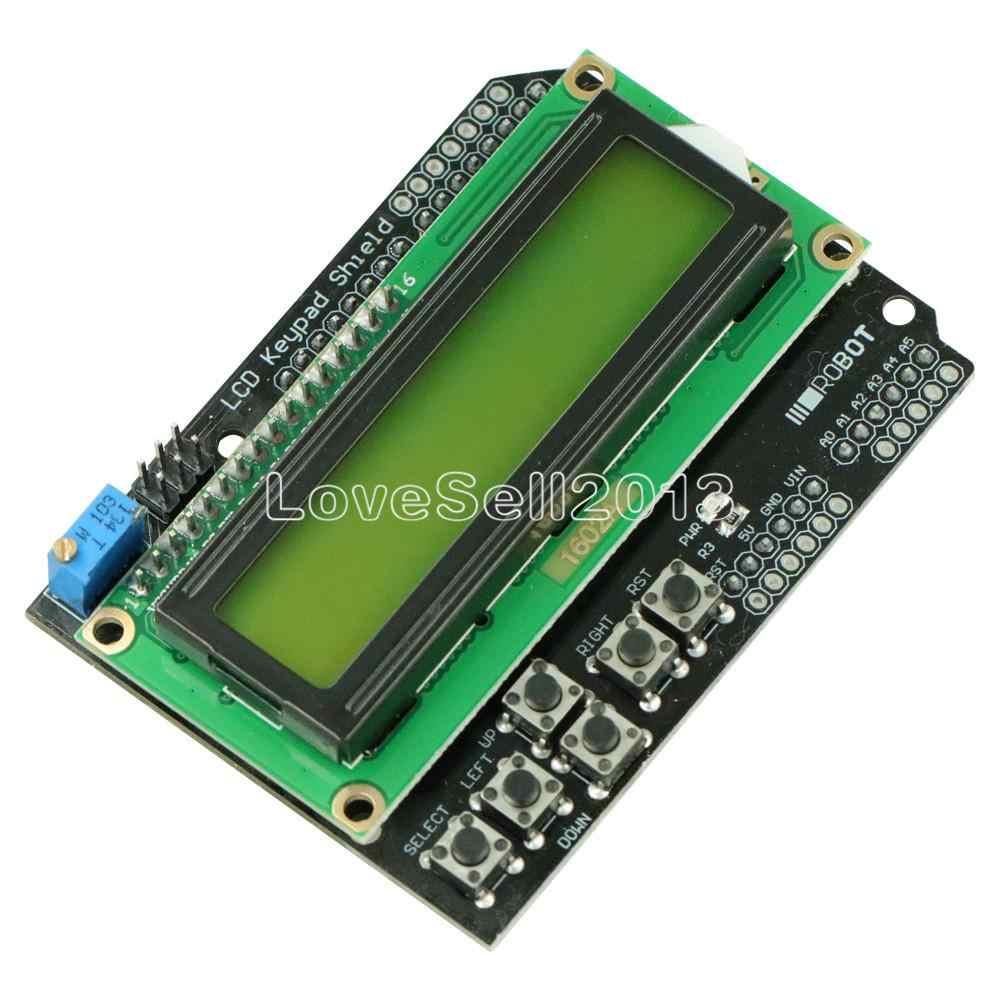 Protector de teclado LCD1602 1602 pantalla LCD ATMEGA328 ATMEGA2560 para Raspberry Pi Arduino UNO R3 retroiluminación amarilla