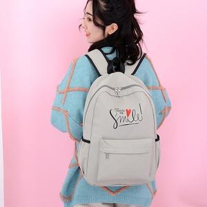 Image 5 - 2020 styl Preppy moda Cartoon kobiety tornister plecak podróżny dla dziewczyn nastolatek stylowa torba na laptopa plecak dziewczyna tornister