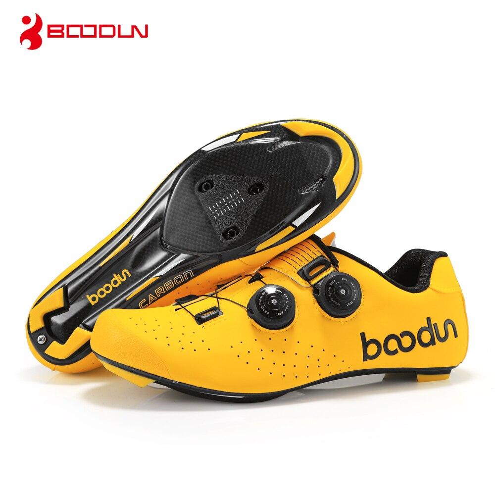 BOODUN chaussures de cyclisme auto-bloquantes VTT route chaussures de cyclisme semelles en fibre de carbone chaussures de course pour hommes chaussures auto-bloquantes