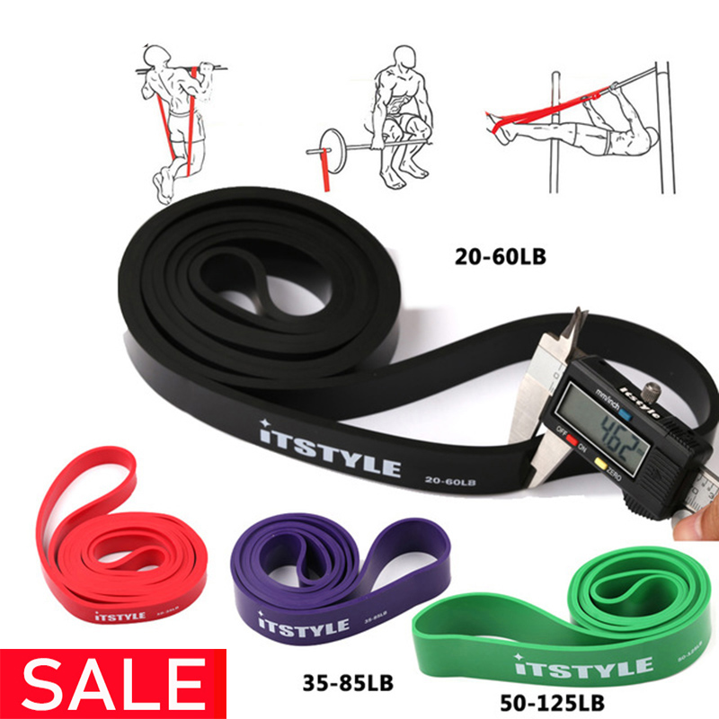 """41"""" Resistance Bands Natural Latex Rubber Expander Power CrossFit 208CM Yoga Rubber Loop Band"""