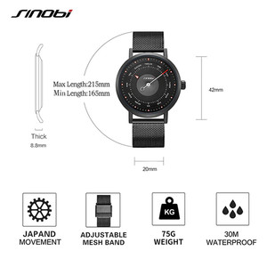 Image 5 - SINOBI חמה אופנה גברים של Creative ספורט שעון קוורץ שעון מזדמן צבאי זוהר עמיד למים שעון יד Relogio Dropshipping