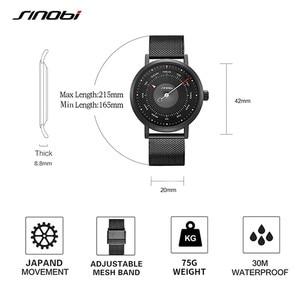 Image 5 - SINOBI Hot Fashion Mens Creative Sport Watch Quartz Clock Casual Military Luminous Waterproof Wrist Watch Relogio Dropshipping