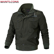 MANTLCONX Military Jacket Men Autumn Cotton Coat Army Mens Pilot Air Force Winter Casual Cargo Coats Windbreaker