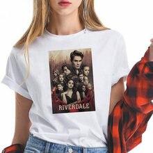 Harajuku модные ривердейл печатных ТВ серии футболка для женщин;