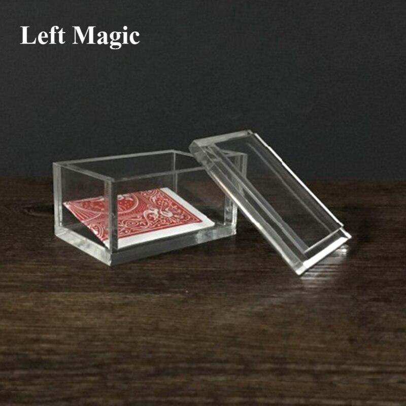 Paragon 3D (DVD e Gimmick) caixa de Cartão de Truques De Mágica Para Limpar Magician Close Up Ilusões de Magia Magia Prop Mentalismo Caixa Transparente
