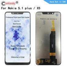 цена на LCD For Nokia 5.1 plus TA-1120 1105 1102 LCD Display Touch panel Screen sensor Digitizer Assembly for Nokia X5 lcd replacement