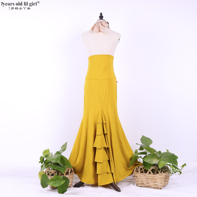 Spanish Dance Dress Flamenco Dance Practice Skirt Flamenco Skirt Multilayer Spanish Skirt Dance Wear Women Fishtail Skirt