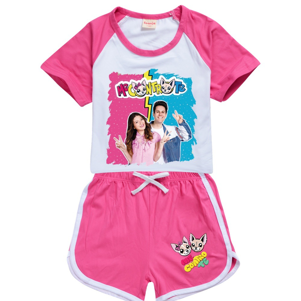 Teens Girls Outfitsme Boutique Kids Clothing Polyester Me Contro Te Kids Summer Boutique Clothing Boys Sport Shirt + Short Sets 3