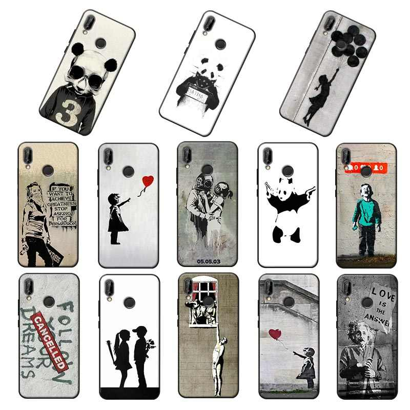 Street Art Banksy for xiaomi redmi note 7 note 8 8 pro k30 7a k20 pro 7 note 5 6 4x Soft Silicone Phone Case