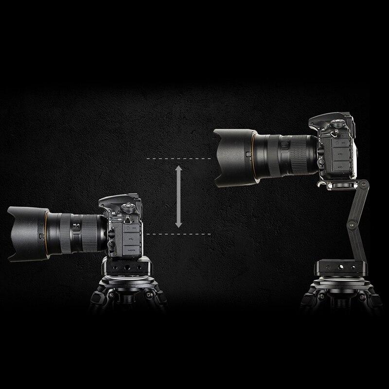 Z Flex inclinaison trépied tête pliante M inclinaison tête 360 rotatif rapide libération plaque support pour Canon Nikon Sony Pentax Dslr appareil photo