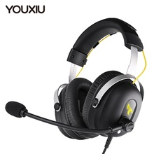 YOUXIU 2021 New Arrivl Gaming Headset 7.1 Multi- channel Surround Sound ENC Dual Microphone Noise Cancellation Gamer Headphones