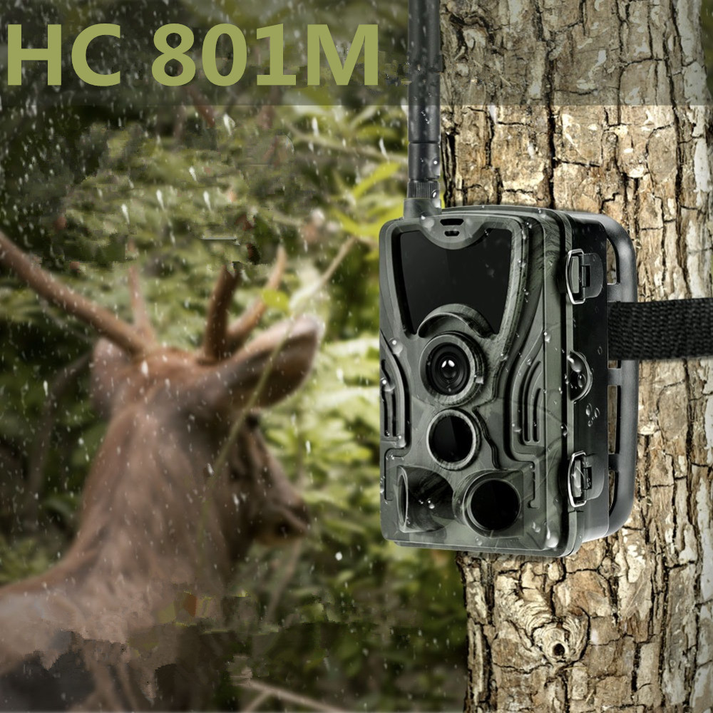 2G Wildlife Trail Camera HC801M Hunting Cameras 16MP 1080P SMS Infrared Night Vision MMS Photo Trap For Outdoor Safety Cams