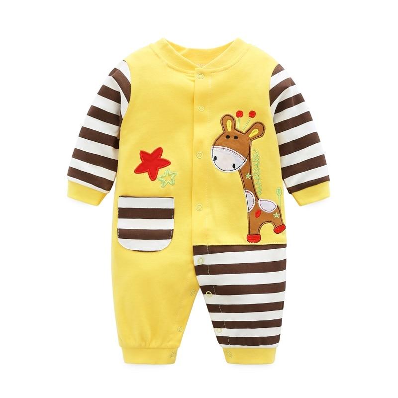 Vår høst nyfødt baby gutteklær 100% bomull Langermet baby rompers - Baby klær - Bilde 2