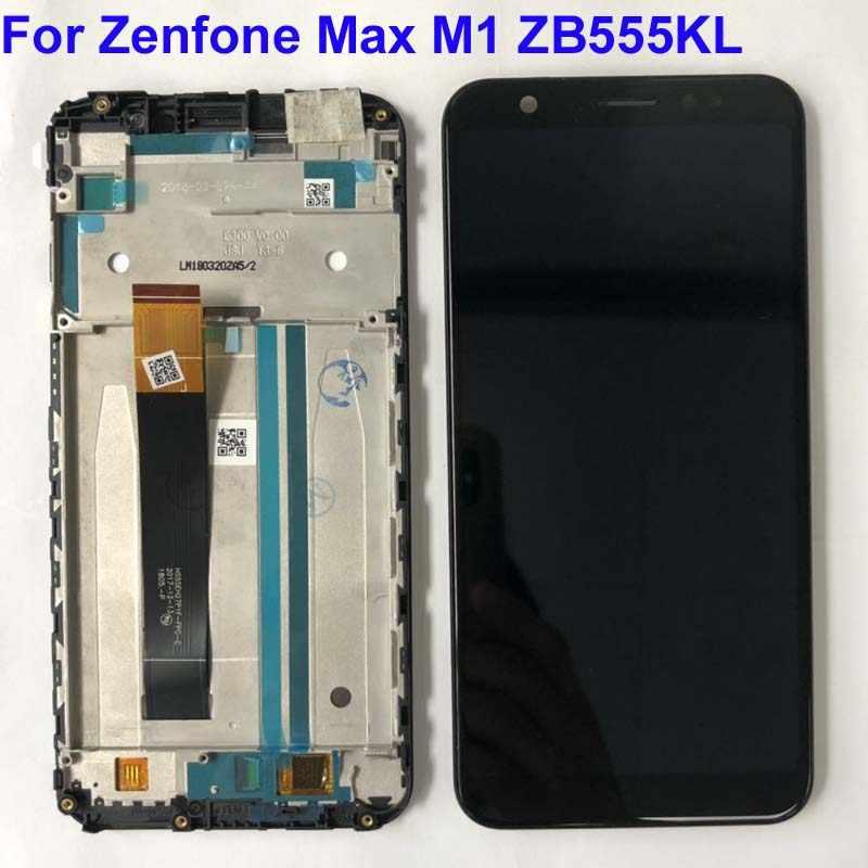 5.5 ''Asus Zenfone 5 最大 M1 ZB555KL 液晶ディスプレイパネルのタッチスクリーンデジタイザガラスセンサーの交換部品 + フレーム