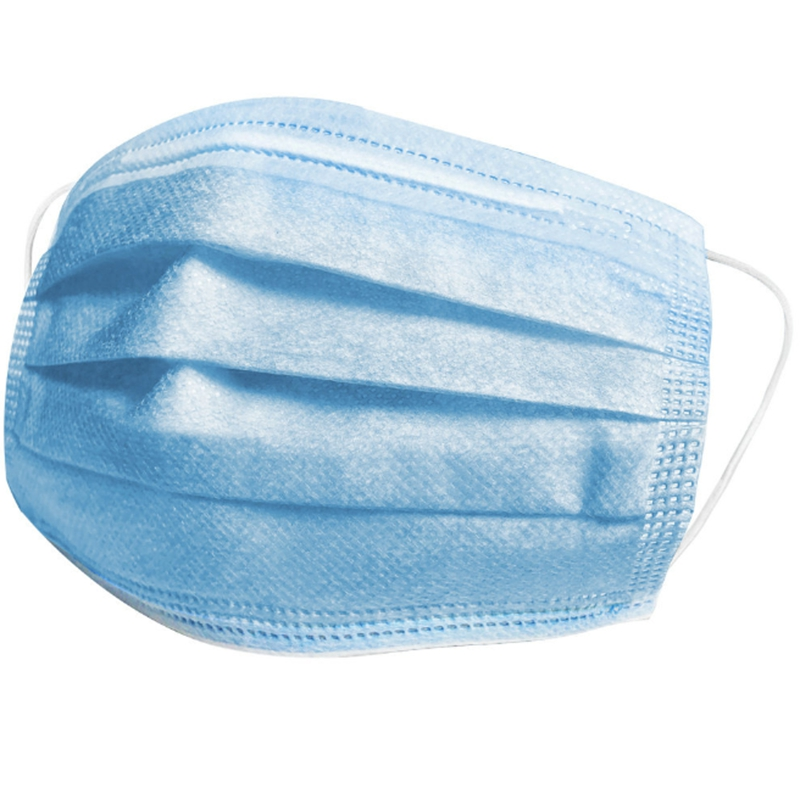 Disposable Mask 3-Ply Protective Mask Anti-Dust Anti-Pollution Mask Nonwoven Elastic Face Mask Earloop Mouth Masks 250Pc