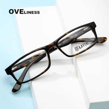 Fashion Square eyeglasses frames eye glasses frame men women Optical Acetate full eyewear Myopia Prescription glasses Spectacles acetate glasses frame men square prescription eyeglasses new women male nerd myopia optical clear spectacles eyewear fonex