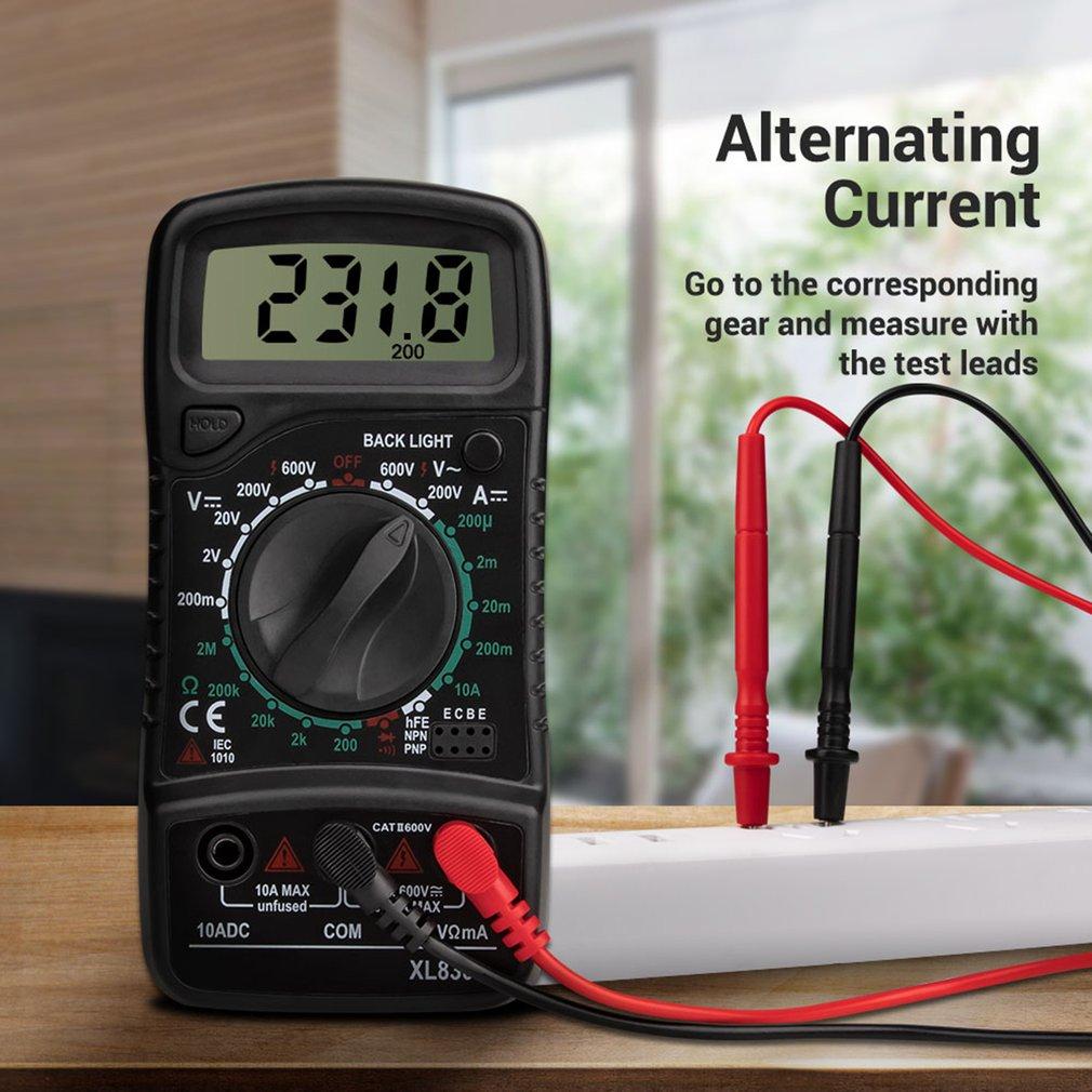Mini Multímetro Digital Contagens ac – dc Tensão Atual Resistência Frequência Tester Rms Verdadeiro Ncv Medidor Xl830 1999 Mod. 179306