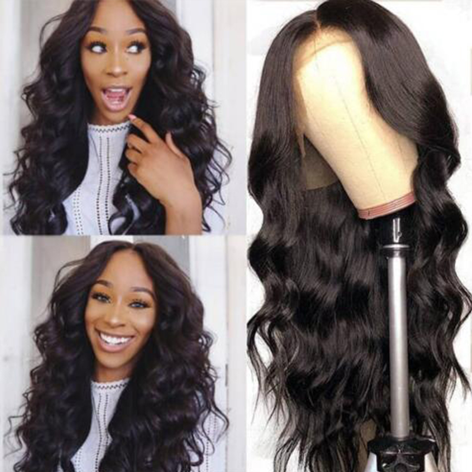 Malaysian Body Wave Lace Front Wig 13x4 Remy Wigs 180 Density Lace Front Wig Pre Plucked Lace Front Human Hair Wigs