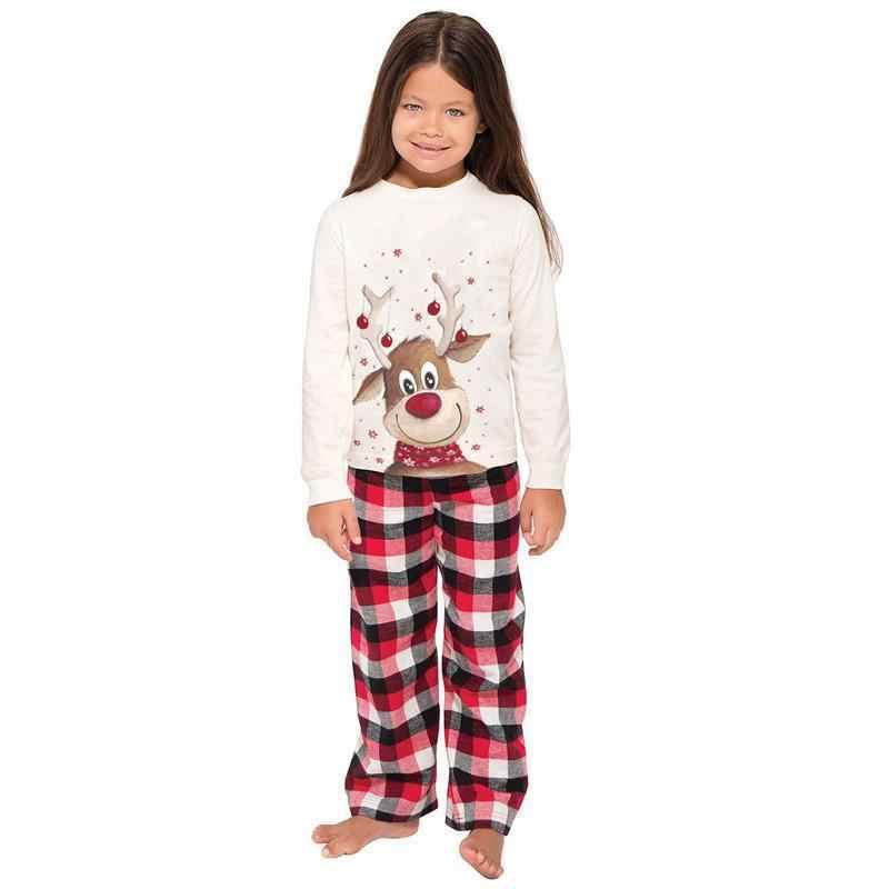 ครอบครัวชุดเสื้อผ้าคริสต์มาสชุดนอน Xmas ผู้ใหญ่เด็กน่ารักปาร์ตี้ชุดนอนชุดนอนการ์ตูนกวางชุดนอน