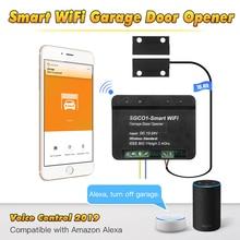 El controlador wifi inteligente está conectado directamente al controlador de puerta para realizar la apertura y cierre remoto de la aplicación móvil