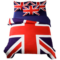 4pcs/set British/UK Flag Home Textile Bedding Set Duvet Cover Bed Sheet Winter Bedding Bedspread housse de couette Drop Shipping